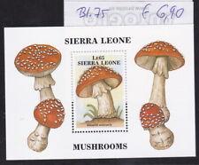 Sierra Leone, Briefmarkenblock,  Motiv: Pilze, postfrisch