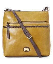 NWT Tignanello A-List Leather Cross Body, Hunter Green/Brown MSRP: $165.00