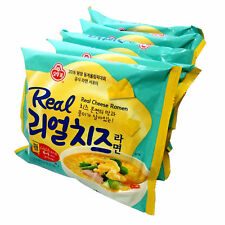 Korean food Ottogi Real Cheese Ramen Korean Noodle 4 PCS