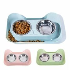 Cat Bowl Non-slip Pet Bowls Small Dog Food Double Bowl Pet Water Elevated Feeder