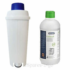 Delonghi Descaler 500ml +  ECAM Water Filter Kit fits Coffee Maker Machines