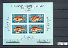 GHANA  1 BLOCK  FISH   CV € 18   **  MNH VF