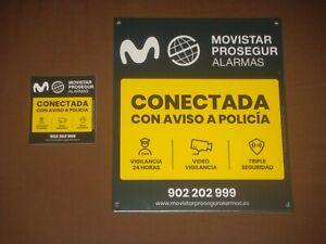 CARTEL DISUASORIO PROSEGUR CON UNAS MEDIDAS DE 21 X 24 CM + 1 PEGATINA. NUEVO-10