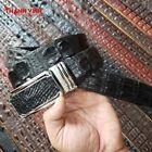 Handmade Genuine Alligator/Crocodile Belt - Double Hornback Leather Skin