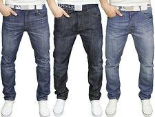 Smith & Jones Mens Branded Classic Regular Fit Straight Leg Belted Jeans, BNWT