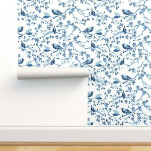 Removable Water-Activated Wallpaper Chinoiserie Challenge Chinese Birds Nature