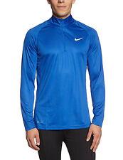 New Mens Nike Blue Shootaround Long Sleeve 1/4 Zip Performance Shirt Size M