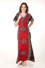Elegant Cotton Multi-Color Indian Nighty Night Dress Size 42-44'' D.No NGT1034