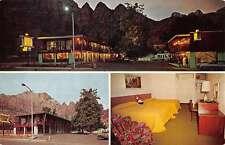Springdale Utah Pioneer Lodge Multiview Vintage Postcard K41777