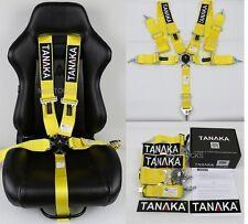 "1 TANAKA YELLOW 5 POINT CAMLOCK RACING SEAT BELT HARNESS 3"" SFI 16.1 CERTIFIED"