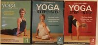 3 Yoga Journal workout DVD lot Step by Step 1 2 balancing poses foundation guide
