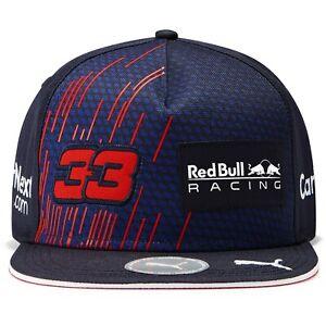 Red Bull Racing F1 2021 Max Verstappen Team Hat Flat Brim