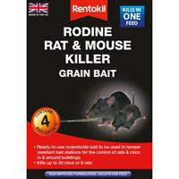 Rentokil Rodine Rat & Mouse Pest Killer Grain Bait Pack of 4x 25g Sachets Sachet