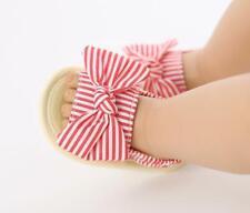 Newborn Baby Girl Pram Shoes Infant BowKnot Inhouse Crawling Summer Sandals 0-18