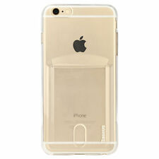 Silicone/Gel/Rubber Mobile Phone & Pda Fitted Case/skins for Apple with Card Pocket