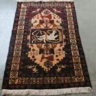 AFGHAN HAND MADE SNAKE FIGHT SHIKAR GAH (BIRDS AND LION) WOOL KNOTTED RUG