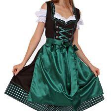 Trachtenkleid 3Tlg Dirndl Lang Oktoberfest Gr 38-60 XXL Übergröße 9020 blau