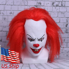 Stephen King's It Pennywise Mask Horror Clown Mask Halloween Cosplay Party Mask