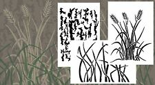 Airbrush Spray Paint Jon Duck Boat Camoflage Stencils 3 Pack - BARK WHEAT GRASS