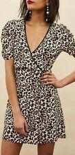 Topshop Leopard Animal Print Wrap Dress 14 Tall BNWT