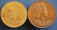2x Canada Canadian medallions incl. 1953 Coronation Elizabeth II *[15128]