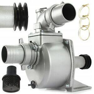 Wasserpumpe 3'' 75mm Keilrieme-Pumpe Schmutzwasserpumpe Fäkalienpumpe Keilriemen