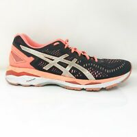 Asics Womens Gel Kayano 23 T696N Black Coral Running Shoes Lace Up Size 12