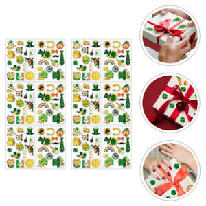 1 Set Festive Exquisite Gift Box Decals for St. Patrick's Day