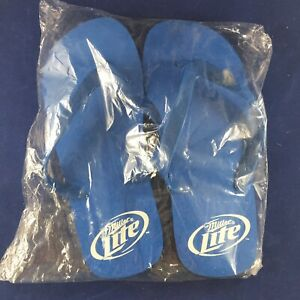 New Pair Of Miller Lite Flip Flops Sandals