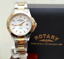 Rotary Ladies 2 real Diamonds Watch Gold Plated Genuine RRP £289 Boxed