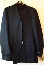 NEW CANALI 100% WOOL NAVY MEN'S SUIT sz. US 40 XL IT 50 7 XL MADE IN ITALY