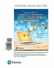 Horngren's Financial and Managerial Accounting, the Financial Chapters,...
