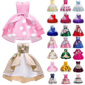 Kids Girls Tutu Princess Dress Formal Wedding Party Bridesmaid Ball Gown Dresses