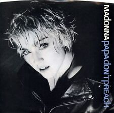 """MADONNA """"Papa Don't Preach"""" (45 RPM) 7"""" Vinyl Record w/ Picture Sleeve MINT"""