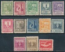 Andorra - Correo- Año: 1929 - numero 00015/27 - Paisajes cifra al dorso dent. 14