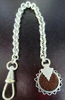 Antique Art Deco Goldstone Watch Fob Chain