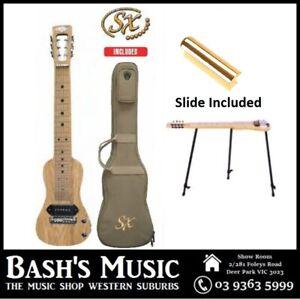 6 string Lap Steel Guitar Shaped Solid American Swamp Ash + Bag + Stand + Slide