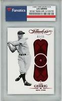 Lou Gehrig Yankees 2017 Panini Flawless Legends Ruby #2 #2/15 Card - Panini