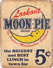 Tin Signs Moon Pie Best Lunch 1801 Reproduced from authentic, vintage advertisin