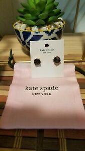 Kate Spade New York Gum Drops Studs Black/Diamond NWT  Retail: $39
