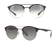 Rayban Round Metal RB3545 900411 Sunglasses Black Silver Gradient AUTHENTIC NEW
