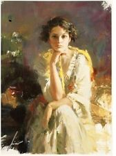 """Yellow Shawl"" Limited Numbered Giclee on Canvas Hand Signed by Pino with COA"