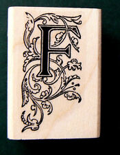 Monogram Letter F rubber stamp  WM P41