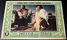 fotobusta originale STELLA DELL'INDIA Cornel Wilde Jean Wallace 1954 #4