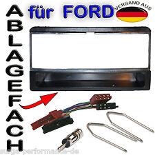 FORD Fiesta Focus Escort Mondeo Radioblende mit Ablage + ISO Adapter Radio SET