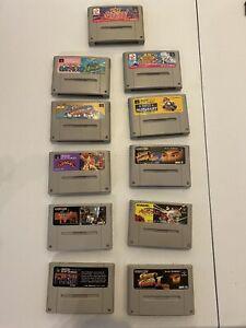 super famicom game lot 11 Games Total