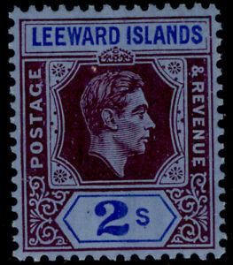 LEEWARD ISLANDS GVI SG111, 2s reddish purple & blue/blue M MINT. Cat £35. CHALKY