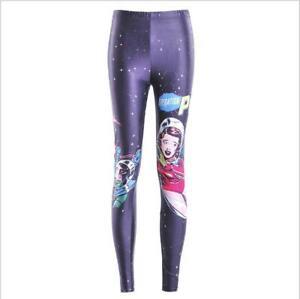 girl leggings gothic pop art space girl Printed Women Legging La3657