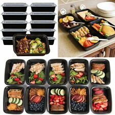 10pcs 16oz Meal Prep Containers Food Storage Reusable Microwavable Plastic