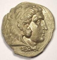 Macedon Philip III AR Tetradrachm Coin - 323-317 BC - Sharp XF Condition!